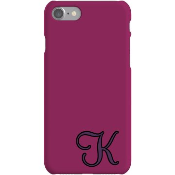 Custom K Monogrammed Case Plastic iPhone 5 Case Black