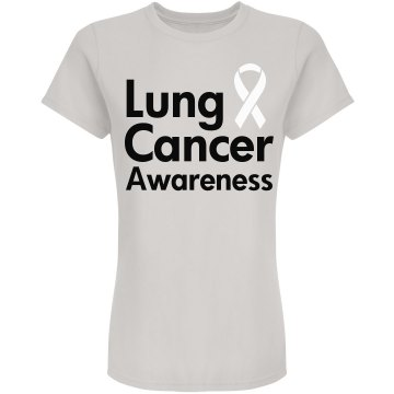 Lung Cancer Awareness Junior Fit American Apparel Fine Jersey Tee