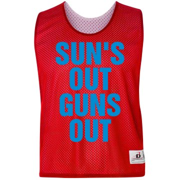 Sun's Out Guns Out Badger Sport Lacrosse Reversible Practice Pinnie