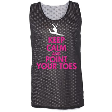 Point Your Toes Pinnie Badger Sport Mesh Reversible Tank
