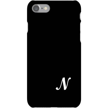Custom N Monogrammed Case Plastic iPhone 5 Case Black