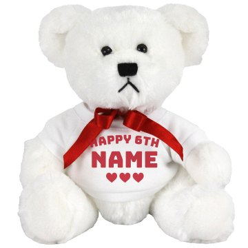 Happy 6th Billy Birthday Medium Plush Teddy Bear