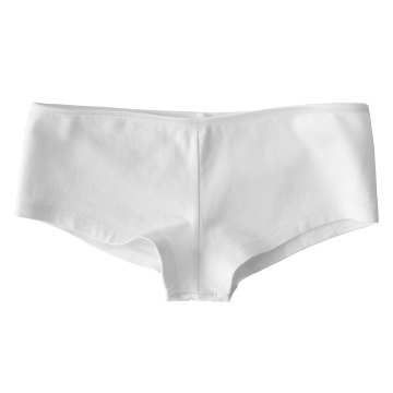 His Girl Hot Short Bella White Basic Hotshort