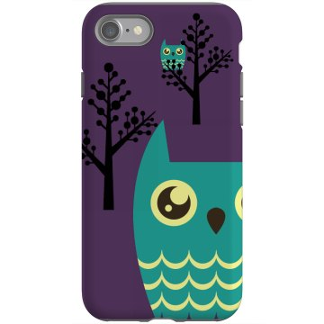 Night Owls iPhone 4 Rubber iPhone 4 & 4S Case Black