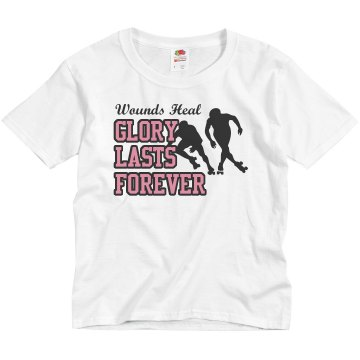 Glory Lasts Forever Youth Basic Gildan Heavy Cotton Crew Neck Tee
