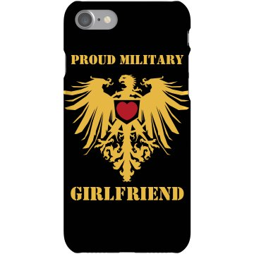 Proud Marine Girlfriend Plastic iPhone 5 Case Black