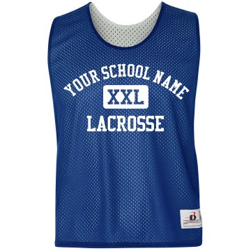 Lacrosse Pinnie w/Back Badger Sport Lacrosse Reversible Practice Pinnie