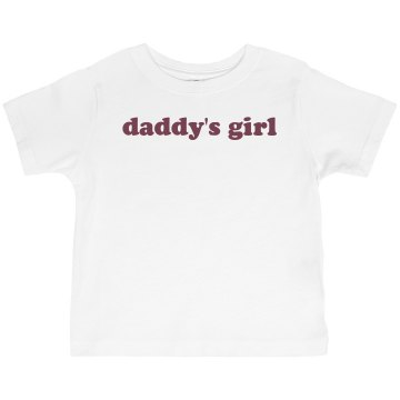 Daddy's Girl Tee Infant Rabbit Skins Lap Shoulder Tee