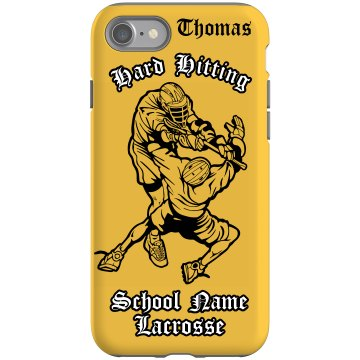 Lacrosse Colors iPhone Rubber iPhone 4 &amp; 4S Case Black