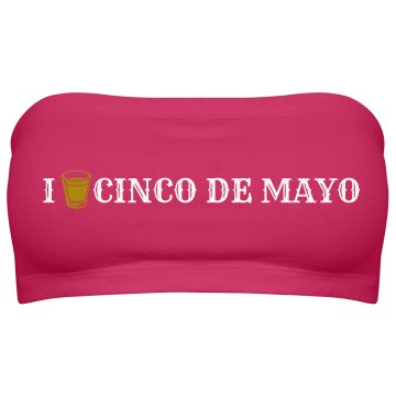 I Love Cinco de Mayo Junior Fit Bella Sheer Longer Length Rib Tee