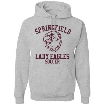 Lady Eagles Soccer Unisex Hanes Ultimate Cotton Heavyweight Hoodie