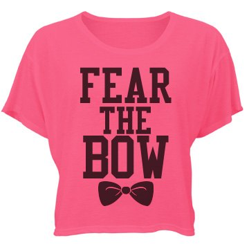Fear The Bow Bella Flowy Boxy Lightweight Crop Top Tee