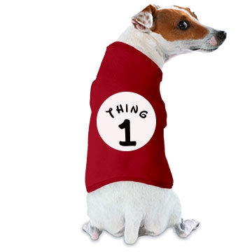 Thing 1 Dog Shirt Doggie Skins Dog Ringer Tee
