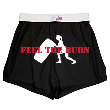Feel the Burn Workout Junior Fit Soffe Cheer Shorts