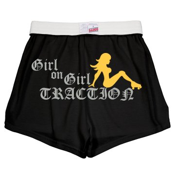 Girl Traction w/ Back Junior Fit Soffe Cheer Shorts