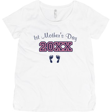 1st Mother's Day Maternity LA T Sportswear Tee