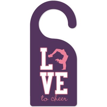Cheer Door Hanger w/Back Door Knob Hanger