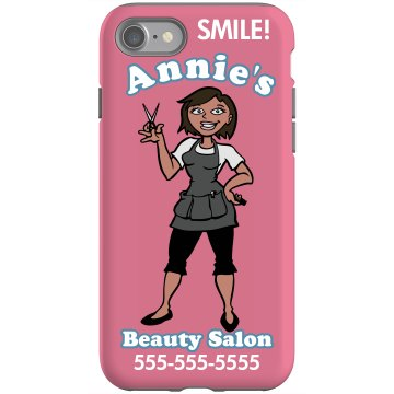 Beauty Salon iPhone Rubber iPhone 4 & 4S Case Black