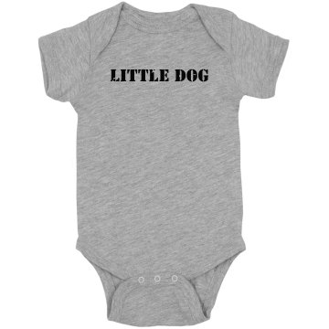 Little Dog Tee Infant Rabbit Skins Lap Shoulder Creeper
