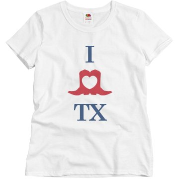 I Heart TX Misses Misses Relaxed Fit Basic Gildan Ultra Cotton Tee