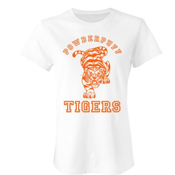 Powderpuff Tigers Junior Fit Bella Sheer Longer Length Rib Tee