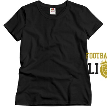 Football Mom Lions Misses Relaxed Fit Gildan Ultra Cotton Tee