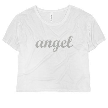Angel Wings Junior Fit Bella Sheer Longer Length Rib Tee