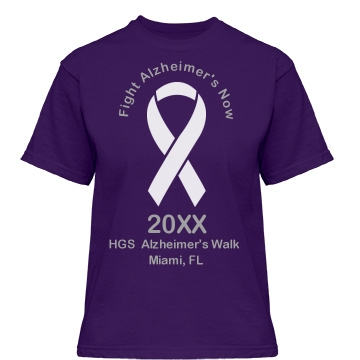 Fight Alzheimer's Now Misses Relaxed Fit Gildan Heavy Cotton Tee