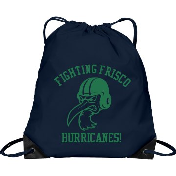 Fighting Frisco Football Port & Company Drawstring Cinch Bag