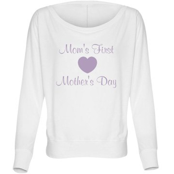 First Mother's Day Tee Bella Flowy Lightweight Long Sleeve Dolman Tee