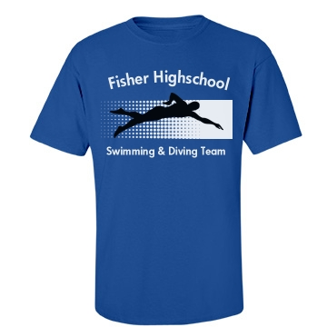 Fisher Swimming Team Unisex Gildan Heavy Cotton Crew Neck Tee