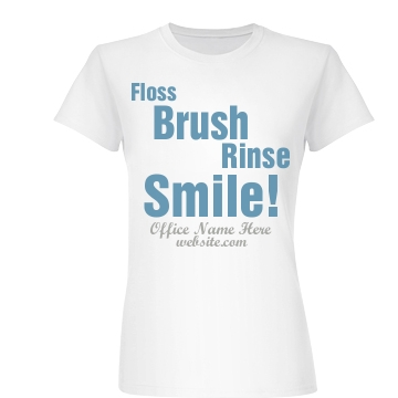 Floss Brush Rinse Smile Junior Fit Basic Bella Favorite Tee