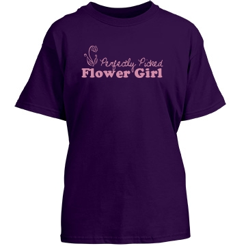 Flower Girl Youth Gildan Heavy Cotton Crew Neck Tee