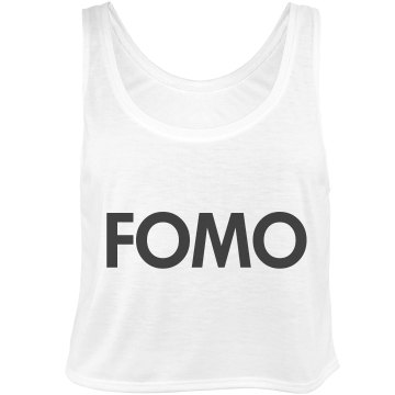 FOMO Fear of Missing Out Bella Flowy Boxy Lightweight Crop Top Tank Top