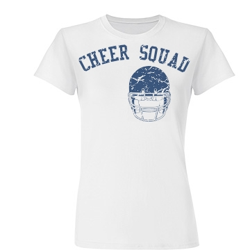 Football Cheer w/ Back Junior Fit Basic Tultex Fine Jersey Tee