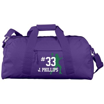 Football Duffel Bag Liberty Bags Large Square Duffel Bag