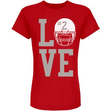 Football Girlfriend Love Junior Fit American Apparel Fine Jersey Tee