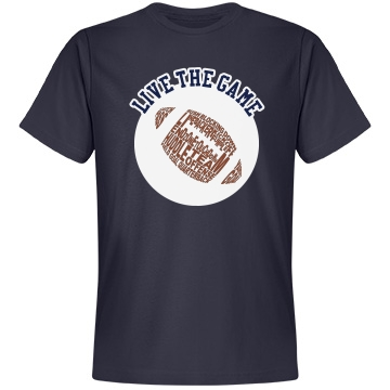 Football Life Unisex Anvil Lightweight Fashion Tee