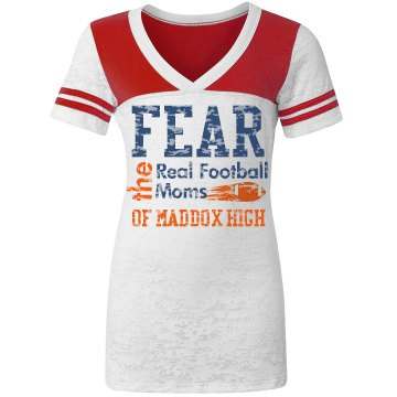 Football Mom Shirt Fear