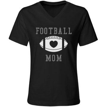 Football Rhinestones Mom