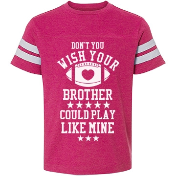 Football sister cheer for Youth football t shirt designs