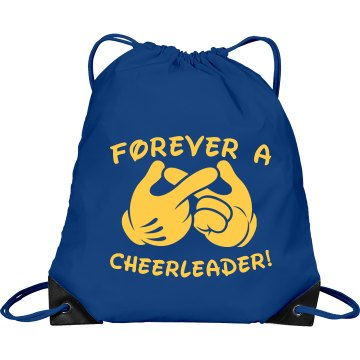 Forever Cheer Team Colors Port & Company Drawstring Cinch Bag