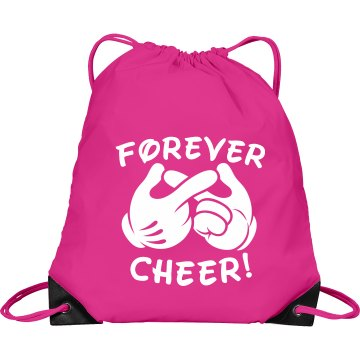 Forever Cheerleading Port & Company Drawstring Cinch Bag