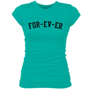 For-ev-er Junior Fit Bella Sheer Longer Length Rib Tee