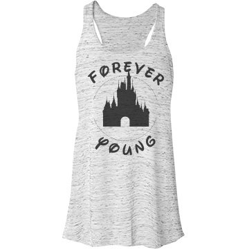 Forever Young Castle Bella Flowy Lightweight Racerback Tank Top