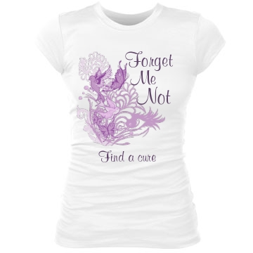 Forget Me Not Alzheimers Junior Fit Bella Sheer Longer Length Rib Tee