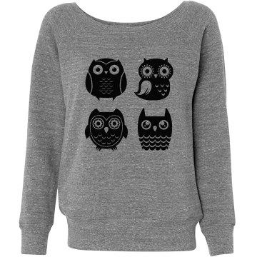 Four Triblend Owls