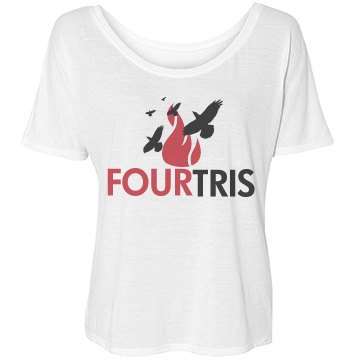 Fourtris Forever Bella Flowy Lightweight Simple Tee