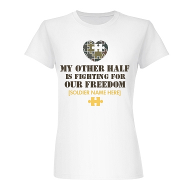 Freedom Army Girl Junior Fit Basic Bella Favorite Tee