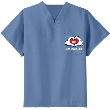 Friendly Nurse Shirley Unisex CornerStone Reversible V-Neck Scrubs Top